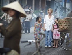 'THE MOTHER TERESA OF VIETNAM.' Deirdre O'Kane as Christina Noble with Vietnamese street children..